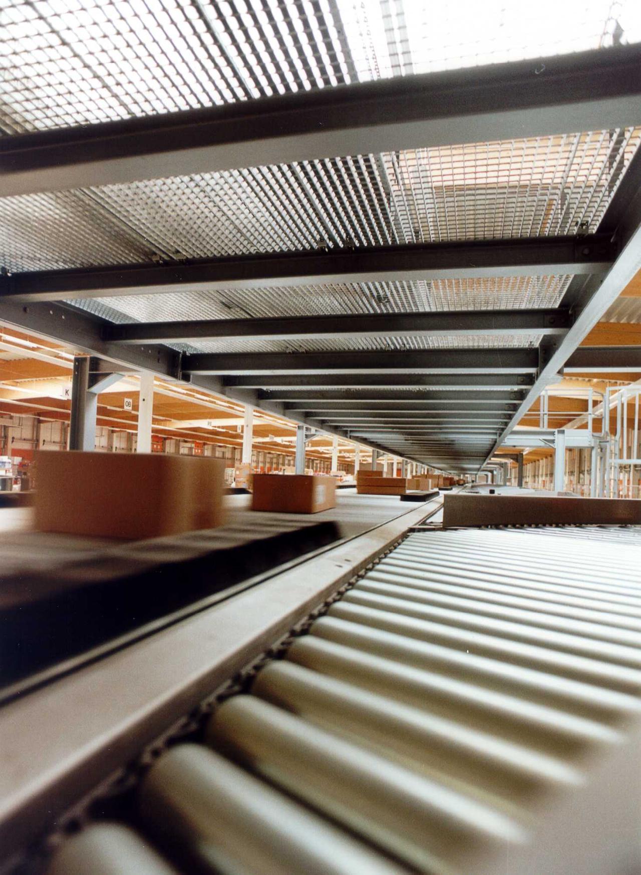 Warensortierung Automatische Doppelstocksortieranlage