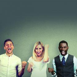 Menschen freuen sich, Erfolg, Diversity